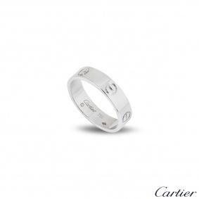 Cartier White Gold Plain Love Ring Size 52 B4084700